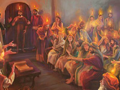 Fogo do Espírito o Santo em movimento em Jerusalém